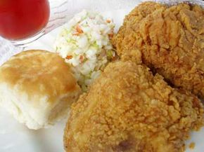 Fried chicken, coleslaw, biscuits and sweet tea are common Southern fare. See more pictures of comfort food.