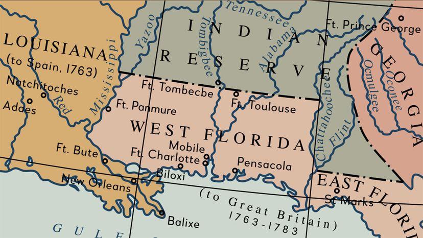 Republic of West Florida map