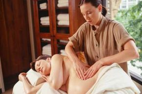 A massage by a certified prenatal massage therapist can really do the trick for a tired pregnant woman.