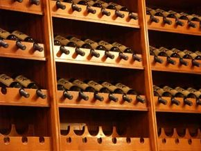 It's not surprising to find Spanish wines stocking this restaurant wine cellar, since Spain is the third largest wine producer in the world. See our collection of wine pictures.