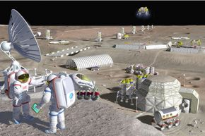 Sketch of what a commercial lunar base could look like (not does look like).