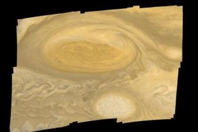 Mosaic of Jupiter's Great Red Spot, as seen by Voyager 1