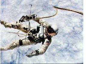 Gemini 4 astronaut Ed White II during America's first spacewalk
