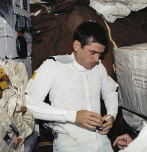 Astronaut in LCVG preparing for a spacewalk