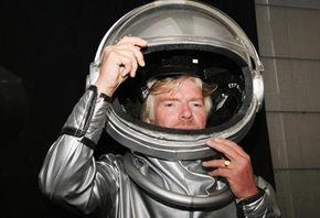 Sir Richard Branson poses for a photograph during Australia's first private sign up to become a space tourist on Dec. 13, 2005.
