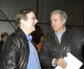 Paul Allen and Burt Rutan discuss the results of a recent SpaceShipOne test flight.