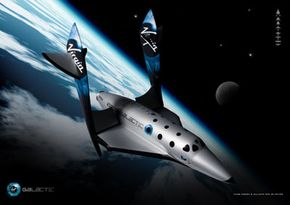 With the wings pivoted to the feathered position, SpaceShipTwo is aerodynamically stable and automatically positions itself properly for re-entry into the atmosphere.