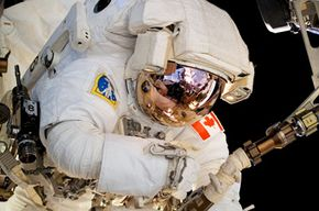 If astronaut Dave Williams didn't have his space suit on while making repairs to the International Space Station, much of his body would experience significant, dangerous swelling.