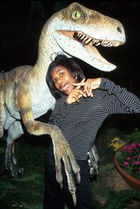 """Special-effects artists create models for movies such as """"Jurassic Park 2: The Lost World,"""" which also featured Vanessa Lee Chester (pictured)."""