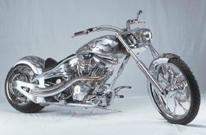 Speed Demon is a high-caliber custom chopper with an elongated frame. See more motorcycle pictures.