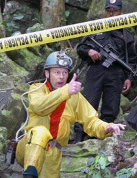 Six British speleologists were trapped in Mexico's Cuetzalan caves network in 2004. They were rescued but deported.