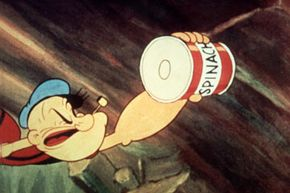 Popeye reaches for his trusty can of spinach. Is it really a good source of iron?