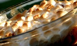 The marshmallows will add a sweet touch to this savory dish.