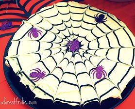 Create a spooky Halloween with cobweb cake.