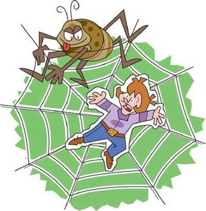 Imagine what it's like to be caught in a spider web!
