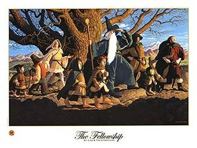 """""""The Fellowship of the Ring"""" lithograph: $35.00"""