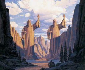 Art from the Hildebrandt brothers' popular Tolkien calendars.