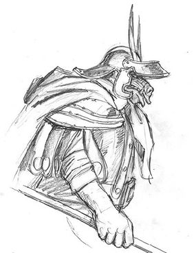 Drawing of an orc, signed by the artists: $325.00