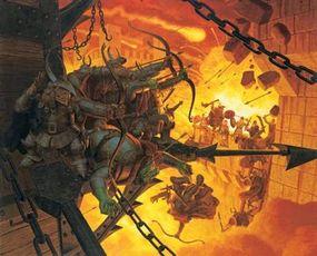 """Original acrylic painting, """"The Siege of Minas Tirith"""": $165,000.00"""