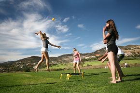A cross between volleyball and four square, spikeball is popping up on college campuses and in recreational leagues all over the U.S. See more sports pictures.