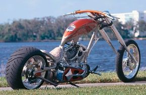 With even its frame built from scratch, the Spoon chopper is truly a custom motorcycle. See more motorcycle pictures.