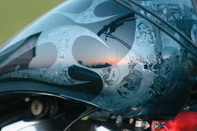 Sportster design includes tribal flames.