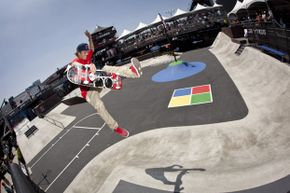 Ryan Sheckler skates during the Skateboard Street Finals at the X Games.  Some of his more stylin' moves could be considered illegal if done on a public roadway. See more pictures of extreme sports.