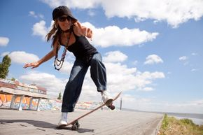 Some cities make it a crime to do skateboard tricks on public streets.