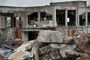 Can you get into trouble for checking out buildings like this abandoned marble factory?