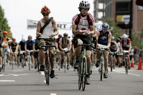More than 700 bicycle messengers competed in the Thirteenth Annual Cycle Messenger World Championships in Jersey City, N.J. in 2005 -- a legit version of underground bike racing.
