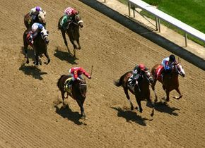A race at Churchill Downs