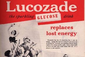 A 1953 ad for Lucozade when it was originally sold as a health drink, rather than a sports drink. See some sports pictures.