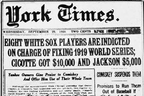 The front page of a 1920 New York Times describes the Black Sox Scandal, one of the worst sports scandals of all time. See more sports pictures.