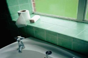 You'd be amazed at the gunk that lives behind the bathroom sink.