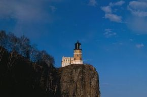 Split Rock is one of the most spectacular lighthouses in North America, with the nearly vertical cliffs of rock and colorful hardwood forests on the adjoining terrain. See more lighthouse pictures.