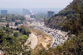 Traffic on Sepulveda Pass, Los Angeles.