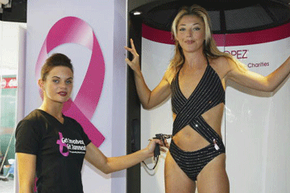 Professional spray tans usually offer the most even look, although oddly shaped bathing suit cutouts may later prove problematic.
