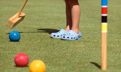 Croquet is a classic garden party game.
