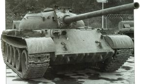 The United States acquired a number of Soviet tanks as a result of the wars in the Middle East. This American-owned T-54 is used for training exercises.