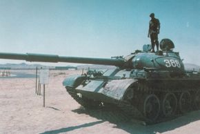 The T-62 Main Battle Tank saw extensive action in the Middle East with Syrian and Egyptian forces during the 1960s, 1970s, and 1980s.