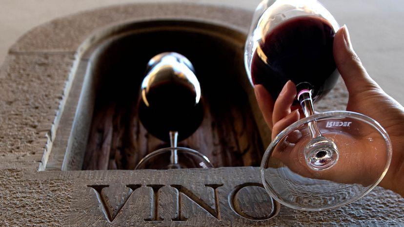Tuscan wine window