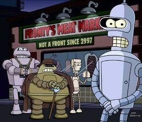 """In a live-action show, it would be prohibitively expensive to create all the robots, aliens and spaceships of """"Futurama"""""""