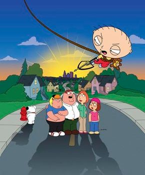 """The extended """"cast"""" of """"Family Guy,"""" a popular realistic animated sitcom."""