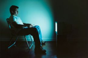 Watching TV ina lawn chairin a dark room may cause eyestrain.