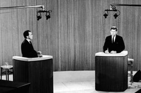 The 1960 presidential debate between Republican vice president Richard Nixon and Democratic senator John F. Kennedy was the first to be televised.