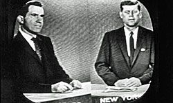 No event has become more iconic for expressing the power of television in politics than the first debate between John F. Kennedy and Richard Nixon.