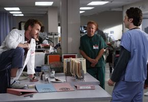 """""""Scrubs"""" films on location at an abandoned hospital."""