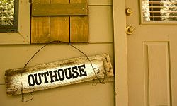 Your sign can be for any part of the house -- or the outhouse.