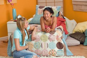 Choose bright colors for your tween's redo; pastels can come off as too young.
