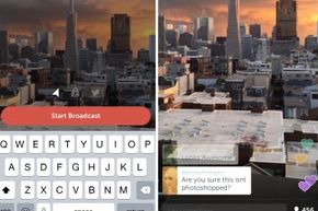 Periscope's pre-broadcast and viewing screens